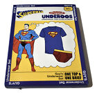 Underoos Official Mens Superman Tee & Briefs Underwear Set NIB S, 2XL