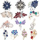 Flower Rhinestone Brooch Pin Women's Wedding Bridal Bouquet Crystal Jewelry Gift image