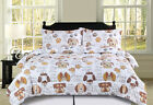 Twin, Full/Queen or King Dog Puppy Themed Pet Lover Comforter Bedding Set, Brown image