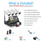 ANRAN Wireless Security Camera System Home CCTV 1080P WiFi NVR 1TB HDD Outdoor