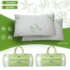 1/2 pcs Queen Size Bamboo Memory Foam Bed Pillow Hypoallergenic w Carry Bag US image