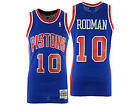 Dennis Rodman #10 Detroit Pistons Blue Classic Throwback Swingman NBA Jersey NEW