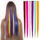 Внешний вид - Colorful Hair Piece Colors Straight Clip in Hair Extensions Hair Pieces for Kids