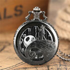 The Nightmare Before Christmas Necklace for Male Female Quartz Pocket Watch Gift image