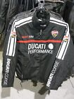 Ladies Ducati Motorcycle Jacket Black Polyester Cotton Insulated Zippers