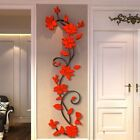 3d Flower Diy Mirror Wall Decals Stickers Beautiful Art Home Room Decorations Us