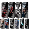 Marvel Comics Venom Tempered Glass Case for iPhone 8 7 6 6S Plus 5S X XS Max XR