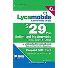 LYCAMOBILE SIM Cards Preloaded $23/$29 3 Months Plan Text Talk Data