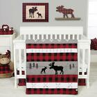 Trend Lab Lumberjack Moose Baby Nursery Crib Bedding CHOOSE FROM 3 & 4 Piece Set