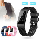 Soft Silicone Watch Band Sports Replacement Wristband Strap For Fitbit Charge 3