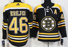 New AD Mens Boston Bruins 46 David Krejci Black Home Hockey Jersey
