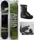 """NEW ARIA """"DRAWLINER"""" SNOWBOARD, BINDINGS, BOOTS PACKAGE - 151cm"""