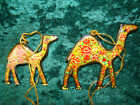 PAPIER MACHE INDIAN CAMEL DECORATIONS, HANDMADE IN KASHMIR, 2 SIZES AVAILABLE