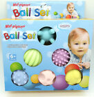 Baby Educational Toy Kids Toddler Soft Rubber Touch Sense Massage Ball 6 Pack