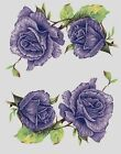 Purple Lavender Rose Flowers Select-A-Size Waterslide Ceramic Decals Bx image