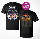 KISS band T-Shirt End of the Road Farewell Tour 2019 Concert Tee.Full Size. image