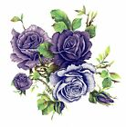 Purple Lavender Rose Cluster Flowers Select-A-Size Waterslide Ceramic Decals Bx image