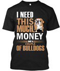 Love Dog Bulldog T-Shirts 100% cotton M-3XL US Men's Women's Clothing trend 2019