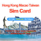Prepaid Hong Kong Macao Taiwan Travel Sim Card 1/3/5/8/15 Days Unlimited Data
