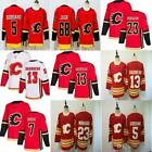 2019 New Mens Red Calgary Flames 13 Johnny Gaudreau Jersey 23 Sean Monahan