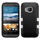 For HTC One M9 TUFF Hybrid Hard Soft Dual Layer Protective Case Cover Skin