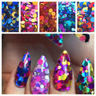 12 Grids Holographic Glitter Sequin Mix Dots Gel Nail Art & Acrylic Nail Design