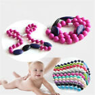 10X Round Silicone Chewing Toy Baby Teething Beads Teether Necklace Creative LS