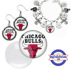 FREE DESIGN > CHICAGO BULLS -Earrings, Pendant, Bracelet, Charm <FAST SHIP> on eBay