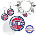 FREE DESIGN > DETROIT PISTONS -Earrings, Pendant, Bracelet, Charm <FAST SHIP> on eBay