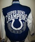 INDIANAPOLIS COLTS Super Bowl XLI CHAMPIONSHIP Cotton Jacket Sewn Logos LG on eBay