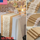 Burlap Table Runner Rectangle Tablecloth Banquet Wedding Party Vintage Decor
