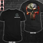 Mercedes AMG Punisher America Flag Man's US shirt so cool T-shirt Size S to 4XL image