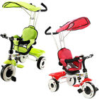 4-In-1 Baby Stroller Tricycle Toy Bike with Canopy Basket FREE & FAST SHIPPING