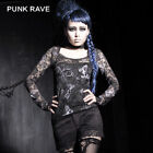 Punk Rave Roses Network T-shirt Cool Butterfly Stylish Sexy Girls T-297