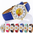 Multicolor Neutral Cute Expression Fashion Leather Quartz Wrist Watches image