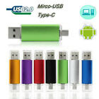512GB USB 2.0 Flash Drive USB-C/Micro USB U Disk 3 in 1 For OTG Android Phone PC
