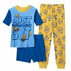 MINION Boys Pajamas Size 8 Medium 100% Cotton Summer Shirt/Pants/Shorts NEW NWT