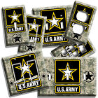 US ARMY STAR DIGITAL PIXEL CAMO LIGHT SWITCH OUTLET PLATE ROOM ART VETERAN DECOR