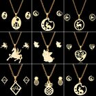 Fashion Stainless Steel Gold Animal Pendant Party Earrings Necklace Jewelry Set