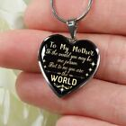 Meaningful To My Mother Necklace Unique Heart Shape Pendant Chain Gift For Woman
