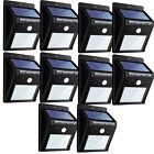 20 LED Solar Power Road Motion Sensor Wall Light Outdoor Garden Waterproof Lamp