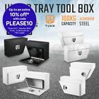 2X Under Tray Tool Boxes Vehicle Truck Ute Trailer Lock Underbody Toolbox Set