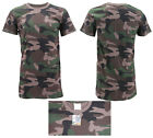 Men's 100% Cotton Athletic Jersey Camouflage Sport Shirt Crew Neck T-Shirt image