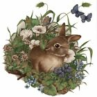 Brown Rabbit Spring Garden Select-A-Size Waterslide Ceramic Decals Bx image