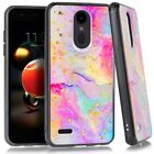 For LG Phoenix 4 LM-X210APM / LG Fortune 2 Marble Glitter Case Phone Cover