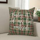Edwina Baby it's Cold as Balls Outside in Tartan Plaid Throw Pillow