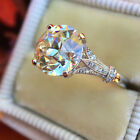 Hot 2.50ct Round Cut White Diamond Vintage Engagement Ring Wedding Jewelry Gifts