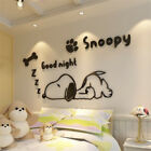Home Decorators Craft Table Cartoon Snoopy 3D Acrylic Wall Stickers Children Room Bedroom Decor Vinyl Sticke Skull Head Home Decor
