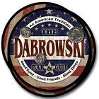 Dabrowski Family Name Drink Coasters - 4pcs - Wine Beer Coffee & Bar Designs