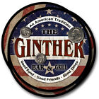 Ginther Family Name Drink Coasters - 4pcs - Wine Beer Coffee & Bar Designs